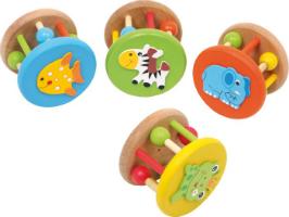 4er Set Babyrassel Tiere
