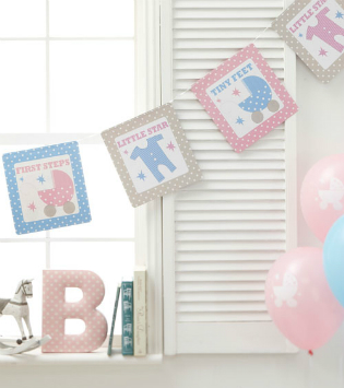 Baby-Shower Party Set unisex