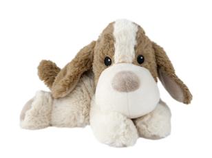 Wärmestofftier Mini Hund mit Lavendel-Korn-Füllung babygeeignet