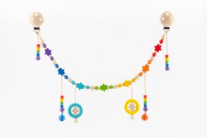 Wagenkette für Kinderwagen Sterne Regenbogen