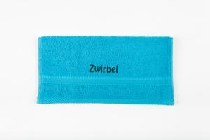 Waschlappen bestickt mit Name hochwertige Frotteewäsche 100 Prozent Baumwolle