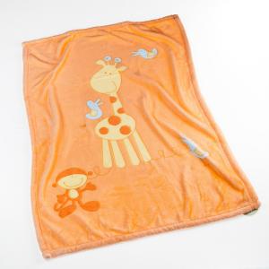 Babydecke Microfaser Giraffe orange