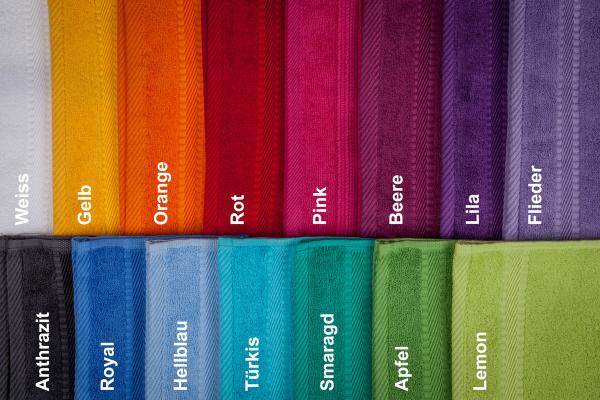 Handtuecher in verschiedenen Farben personalisierbar