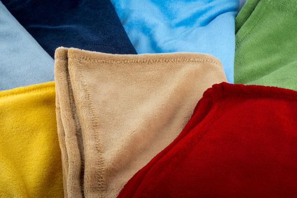 Babydecke aus Wellness-Fleece in verschiedenen Farben