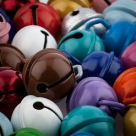 Rollengloeckchen farbig lackiert gross