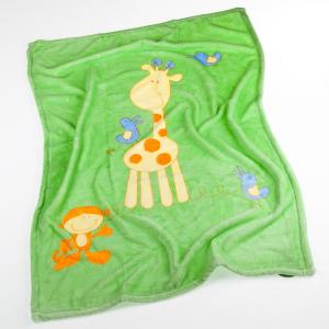 Babydecke Microfaser Giraffe grün