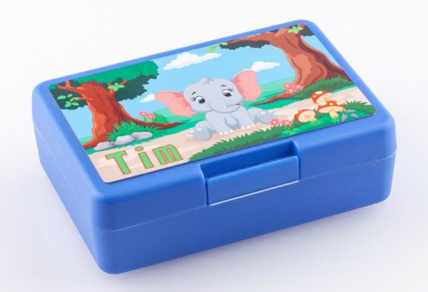 Brotbox mit Name Elefant