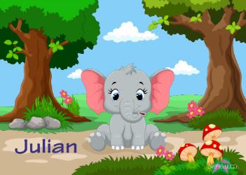 Tischset Elefant