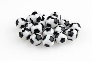 Fussballperlen rund einzeln