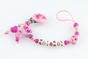 Nuggikette Entchen rosa pink