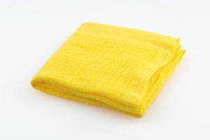 Stofftuch Nuscheli uni 60x60 gelb