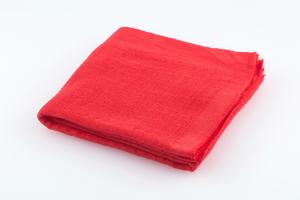 Stofftuch Nuscheli uni 60x60 rot