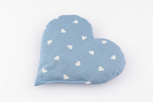 Traubenkernkissen Herz hellblau