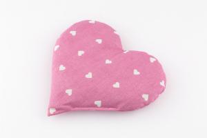 Traubenkernkissen Herz rosa