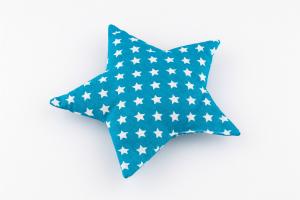 Traubenkernkissen Stern blau