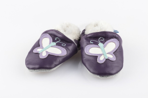 Fellfinkli 18-24 Monate Schmetterling lila