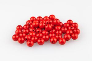 Rote Holzperlen