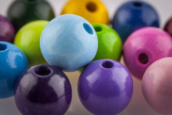 Holzperlen 15 mm in 8 Farben