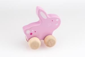Schiebetier Hase pink