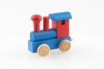 Buchstabenzug Lokomotive blau:rot