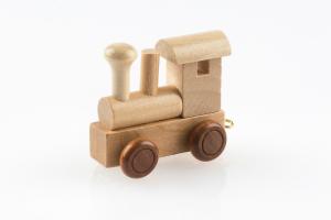 Buchstabenzug Lokomotive natur