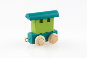 Buchstabenzug Passagierwagen grün