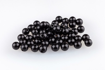 Holzperlen 10 mm schwarz
