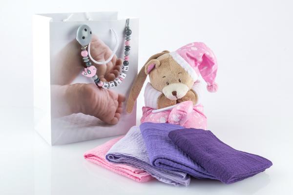 Babytasche Spieluhr Baer mit Nuscheli