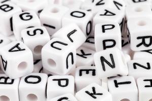 Acrylbuchstaben gemischt 550 Stueck