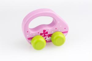 Greif-Fahrzeug rosa gruene Raeder