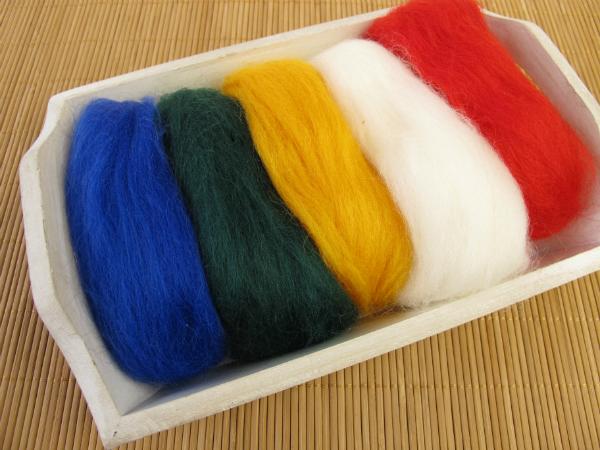 Filzwolle in verschiedenen Farben
