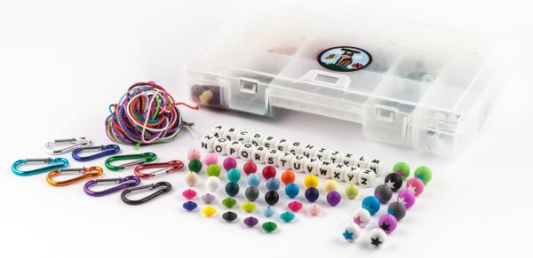Starterset Silikon Buchstaben 12mm und Perlen