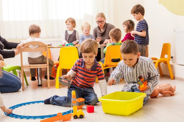 Spielgruppe im Kindergarten