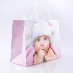 Geschenktasche Baby rosa gross
