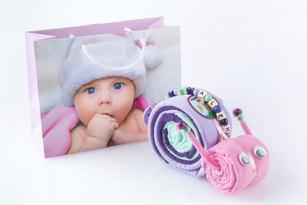Nuscheli-Tierli Schnecke klein Babyset