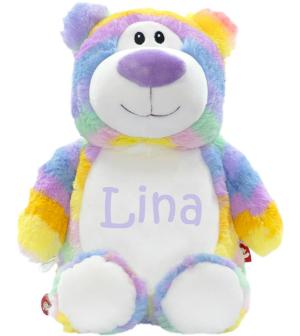 Cubbies Kuscheltier Regenbogenbär mit Name