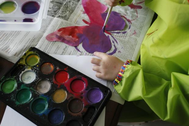 Mit Wasserfarben malen