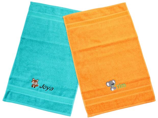 Handtuch bestickt mit Motiv & Name