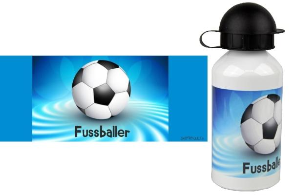 alu-trinkflasche-fussball