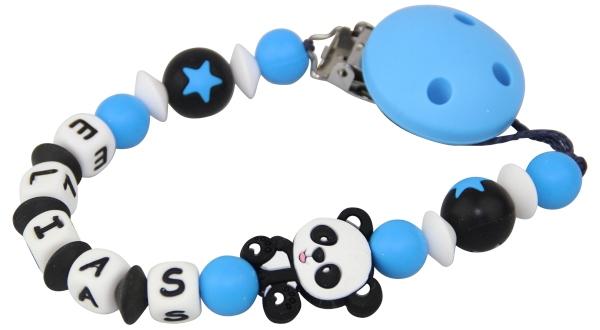 nuggikette-silikon-mit-name-panda-blau-schwarz