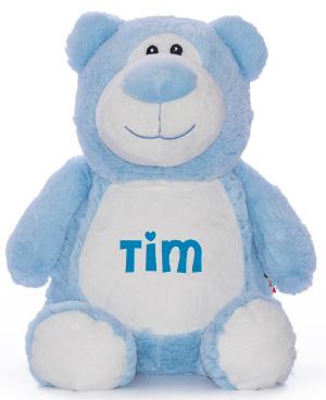 Cubbies Kuscheltier Bär blau mit Name