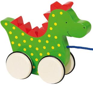 Kinderspielzeug Ziehtier Drache | mit Name