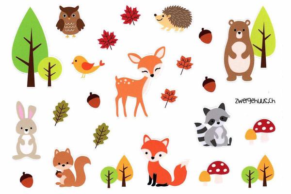 Sticker Waldtiere, DIN A5