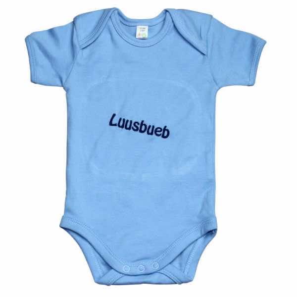 Babybody pastellblau bestickt mit Name
