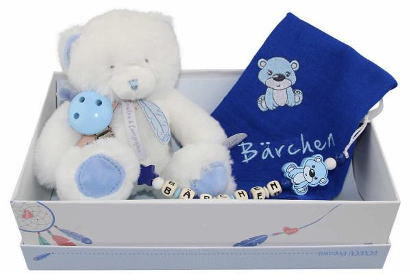 Geschenkschachtel Teddy blau