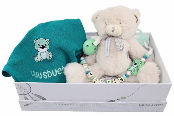 Geschenkschachtel Teddy mint