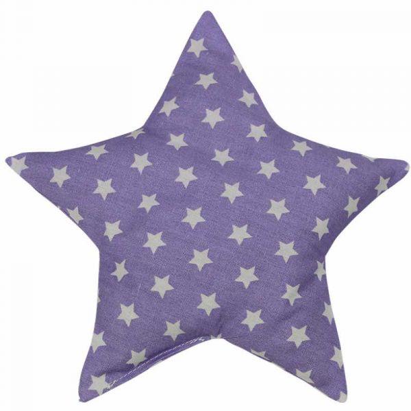 Traubenkernkissen Sterne flieder
