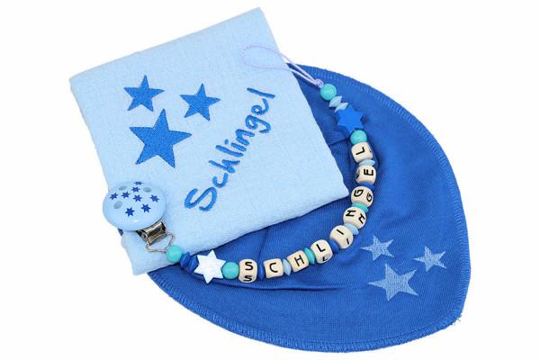 Geschenkset Sternchen blautöne
