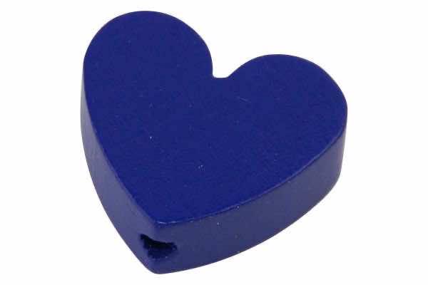 % Motivperlen Herz blau Dunkel
