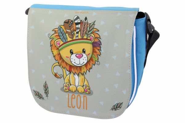 Kindergartentasche mit Name Löwe